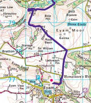 YHA Eyam to YHA Castleton Losehill Hall walk