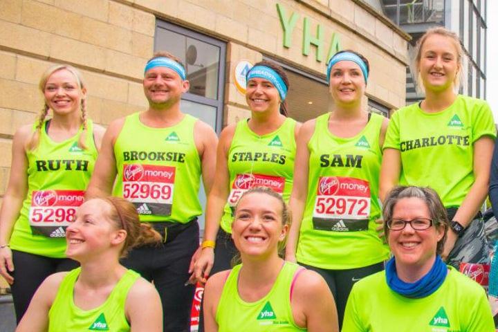 London Marathon YHA runners