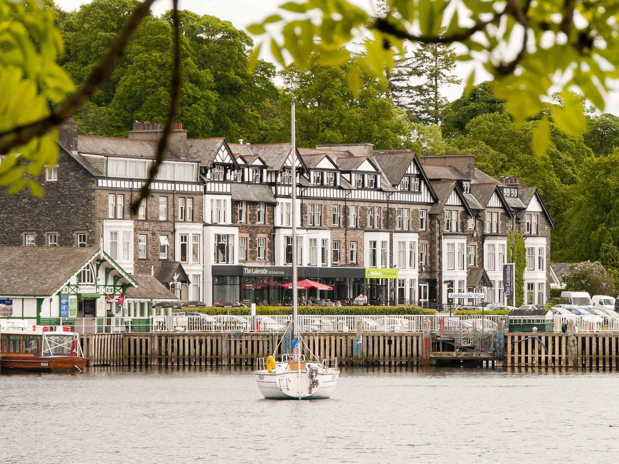 YHA Ambleside over the jetty