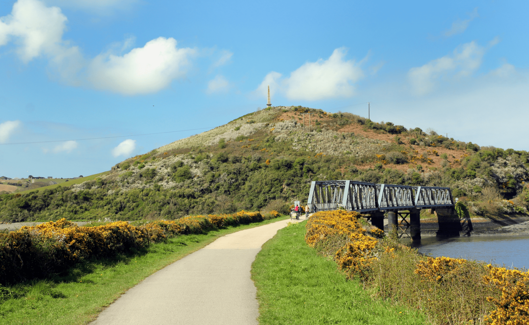 Cycle paths in Cornwall