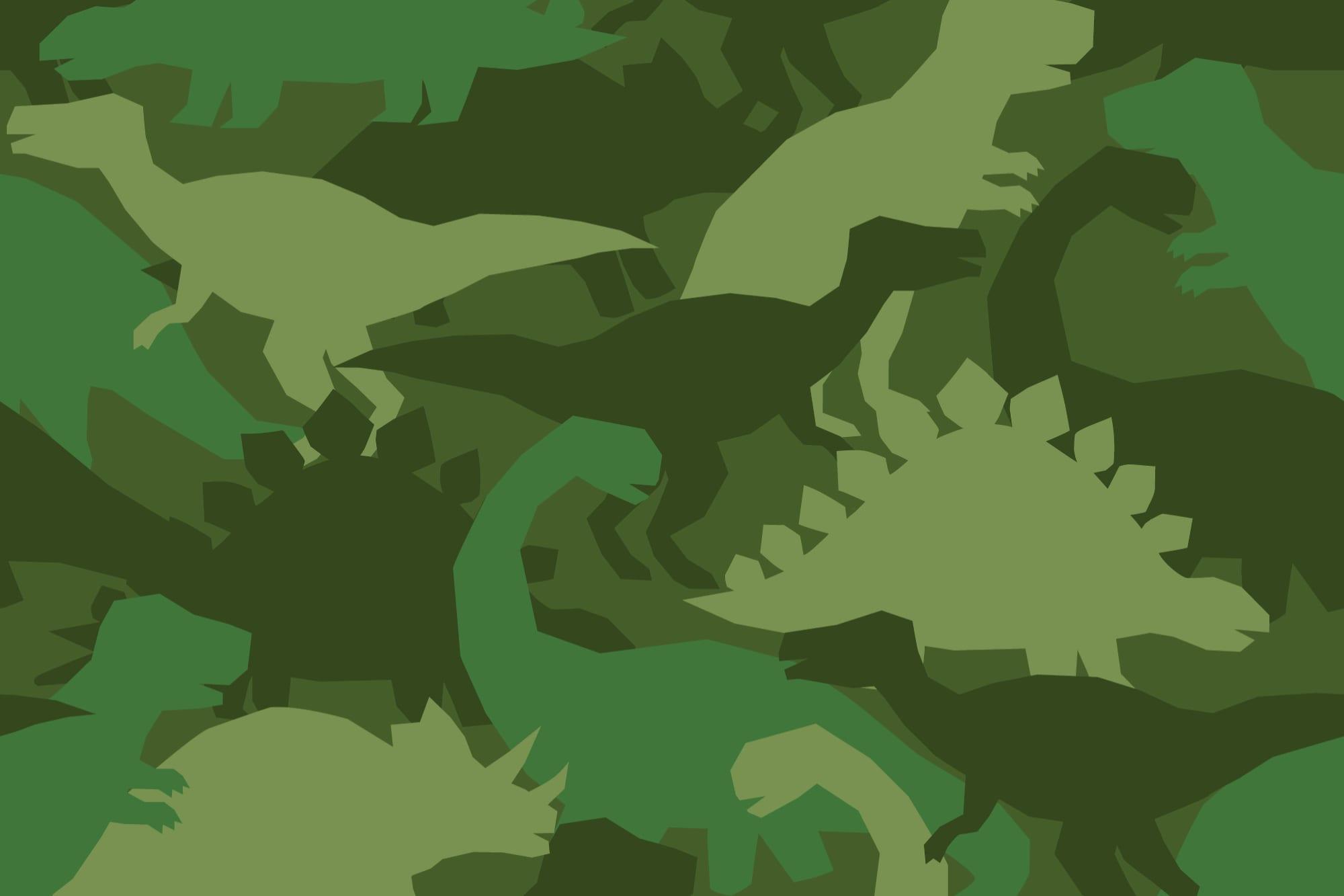 Dinosaur pattern green