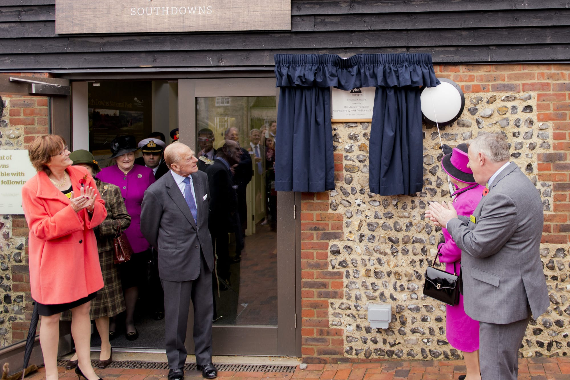 Prince Philip opening YHA South Downs