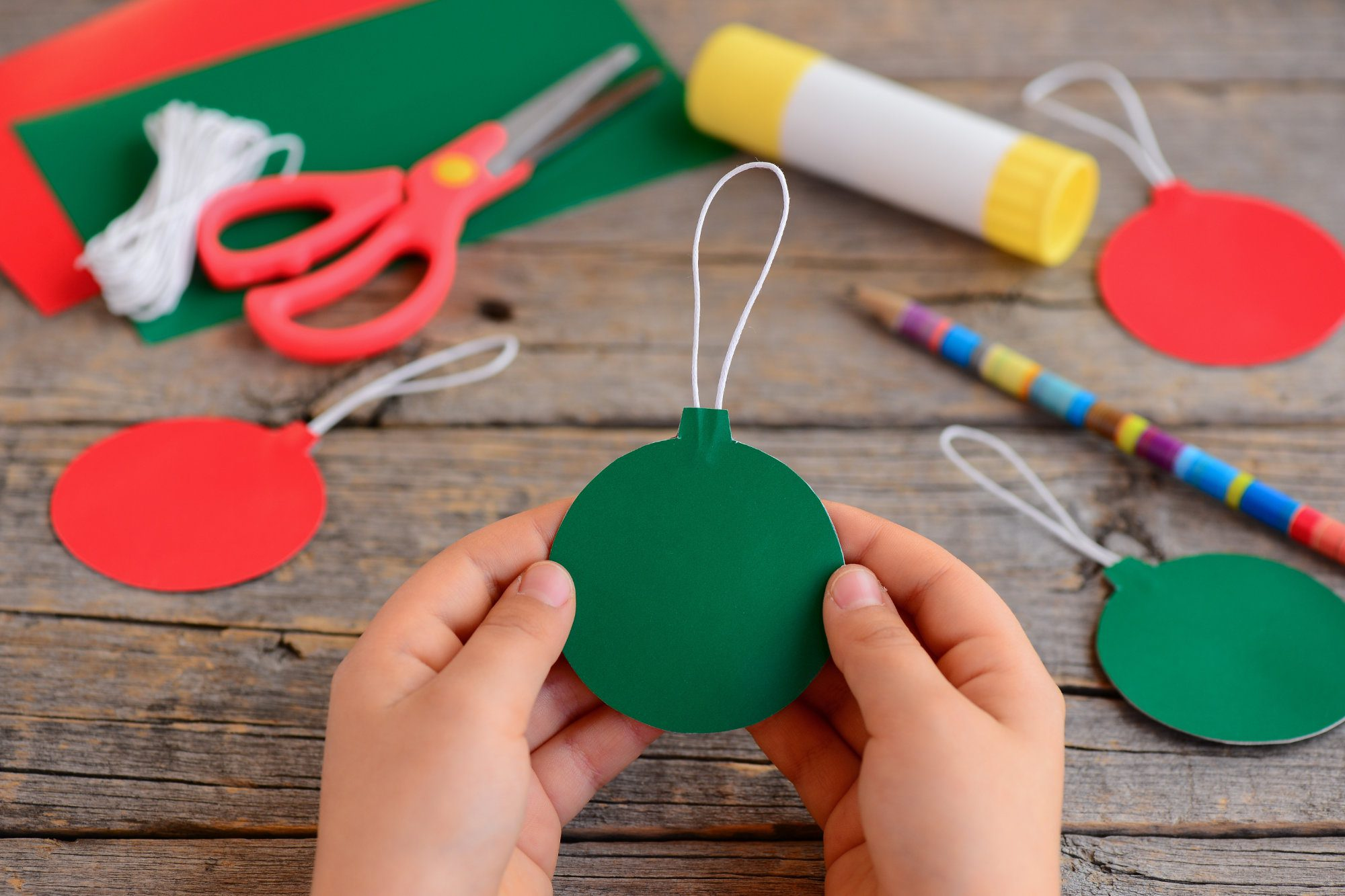 Christmas craft paper bauble