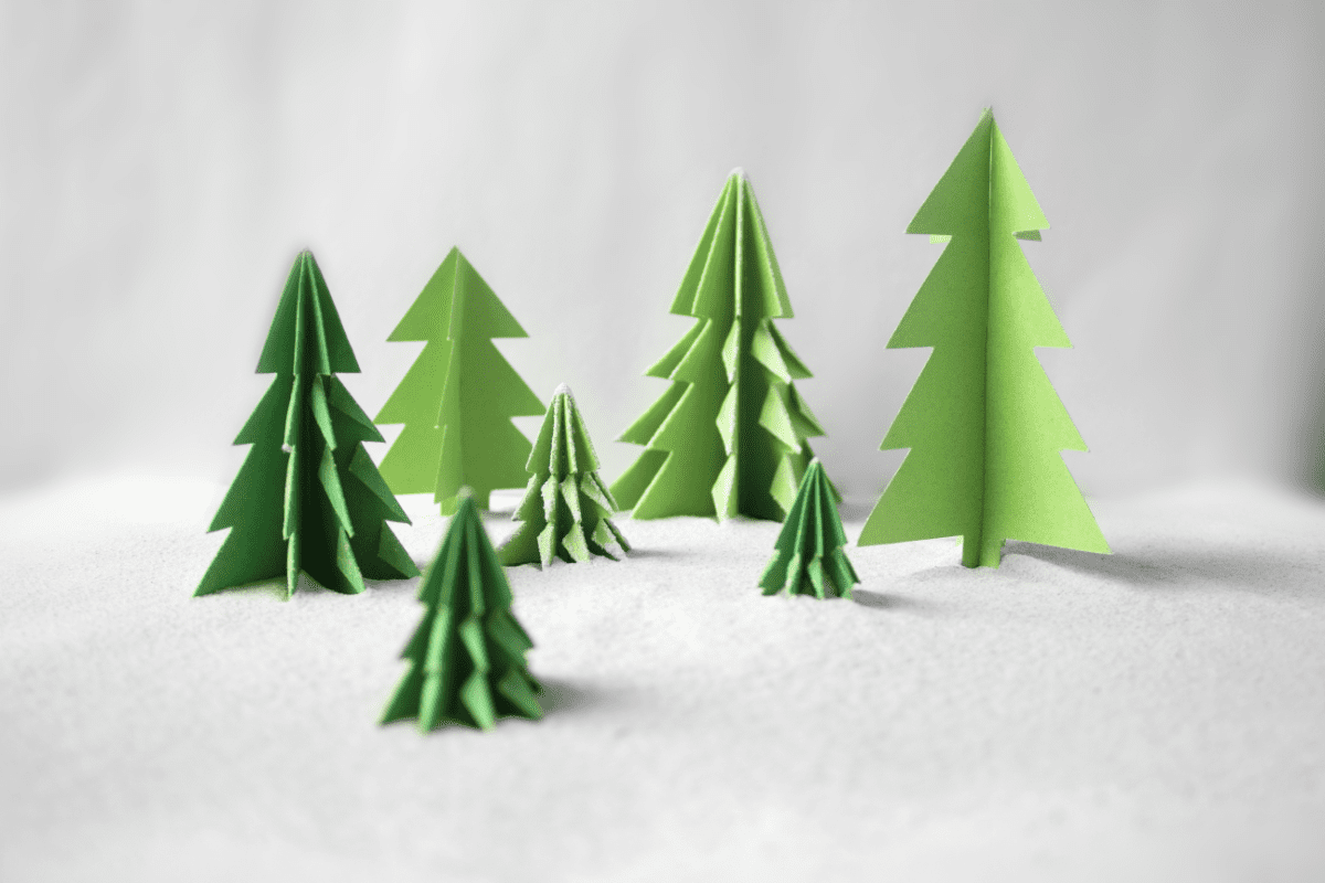 Card Christmas trees