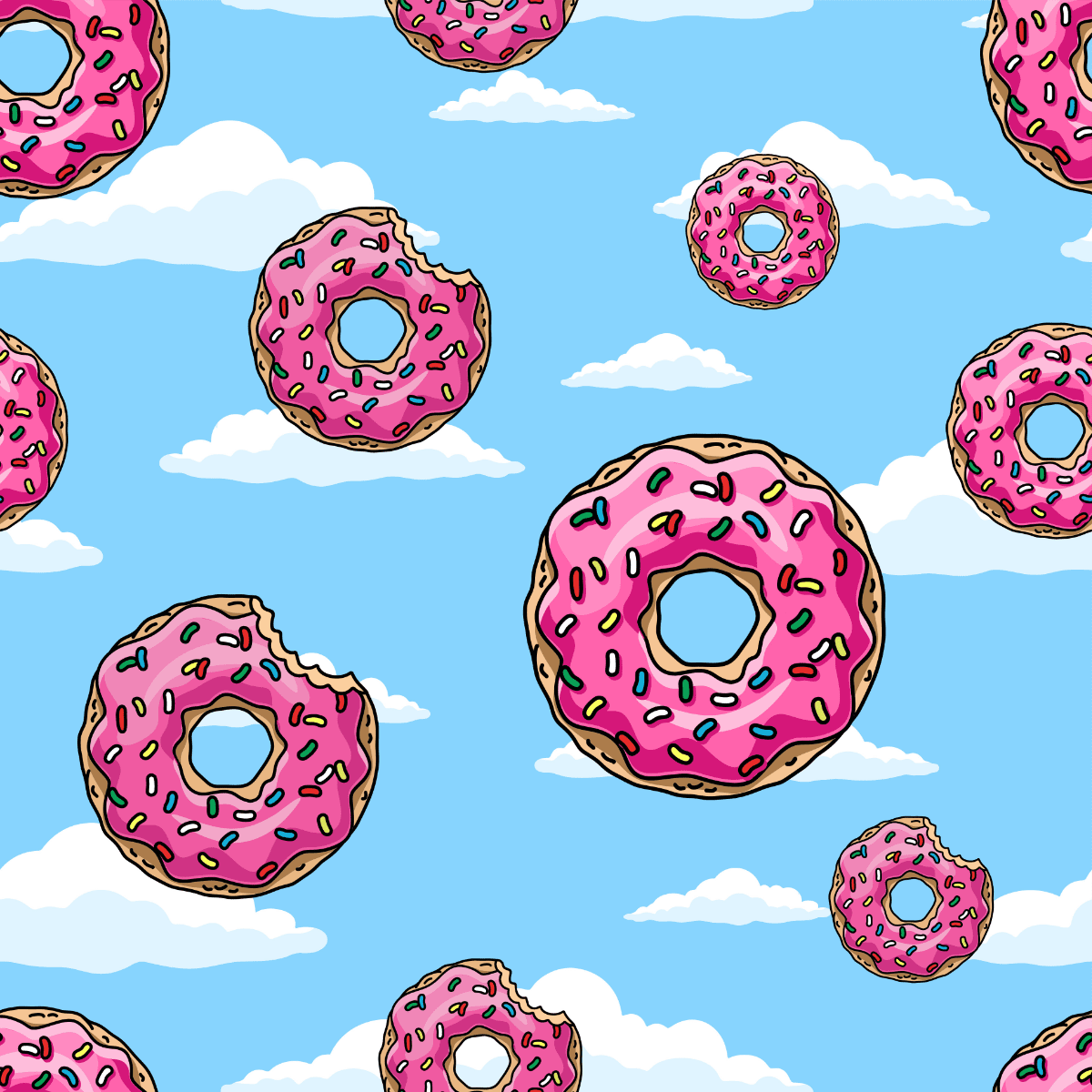 The Simpsons donut background