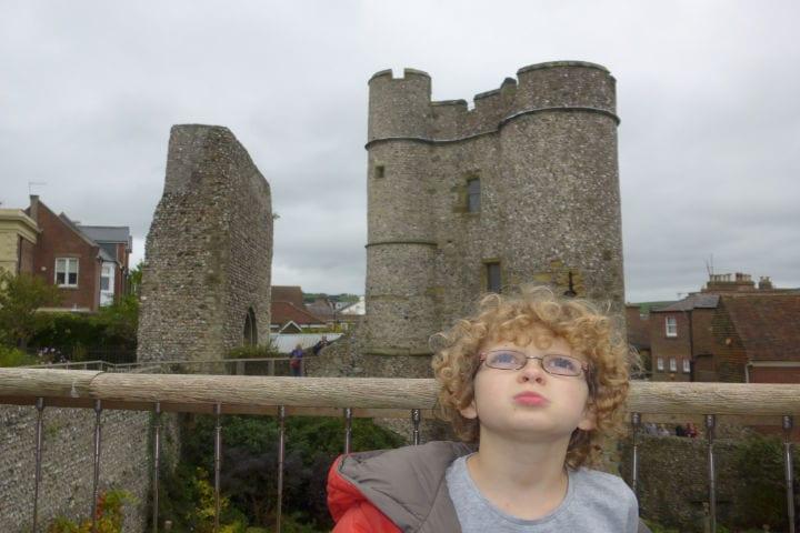 A boy visiting Landmark Lewes Castle
