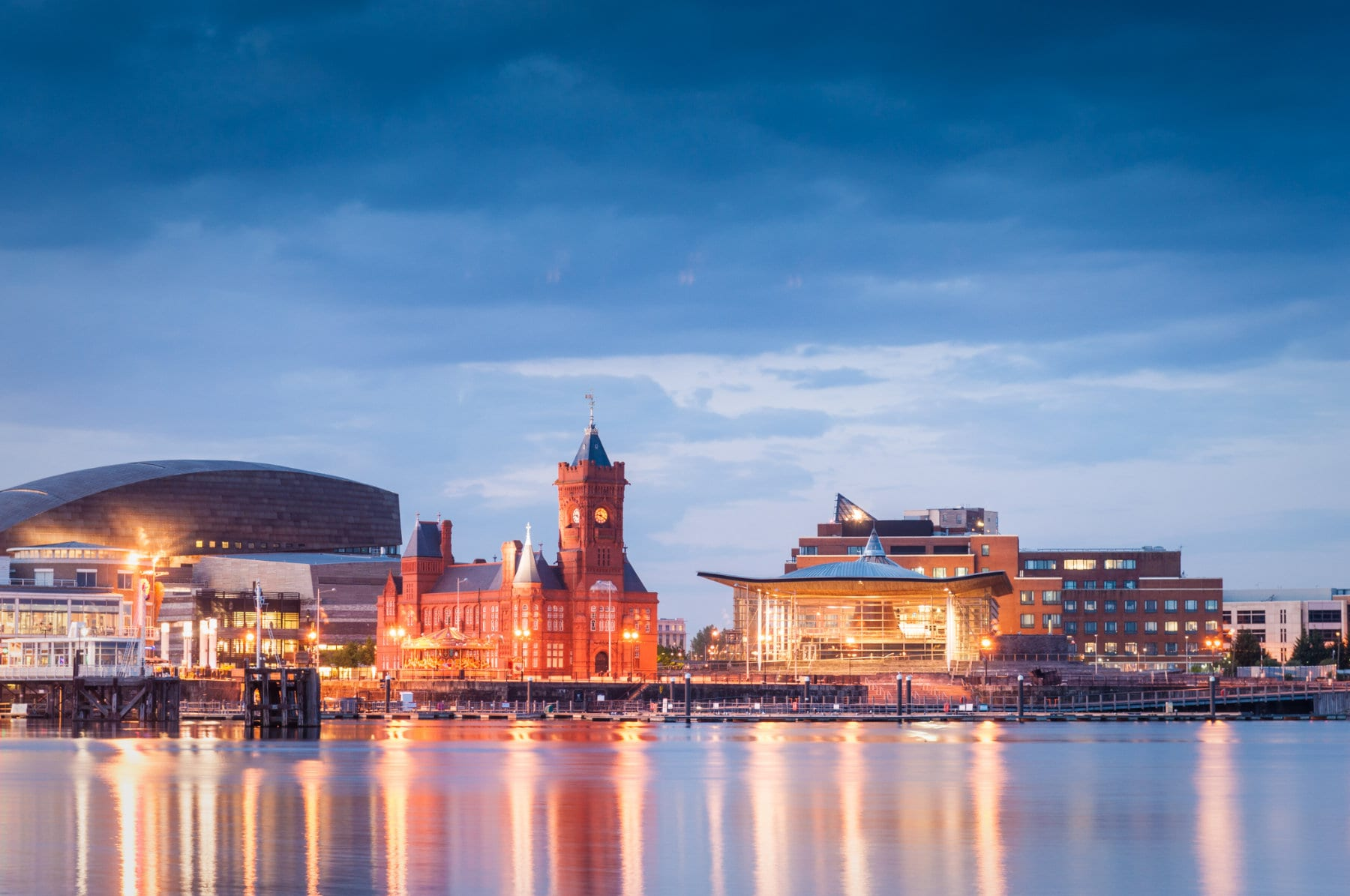 View of Cardiff across the river