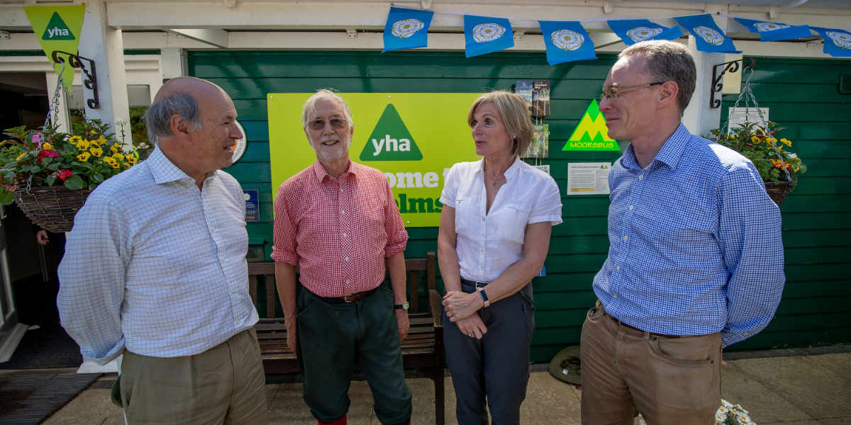Charlotte Graham and others at YHA