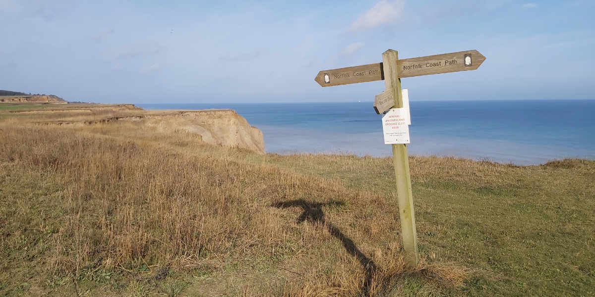 Norfolk coast path signpost