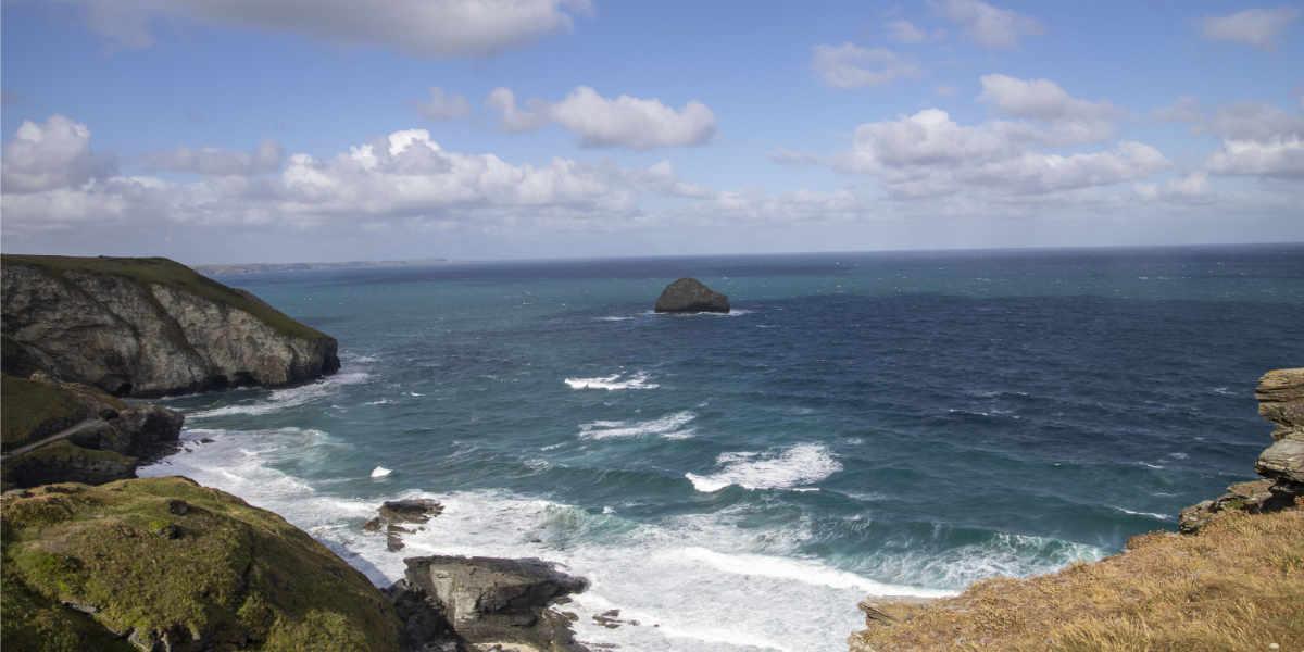 View of Cornwall sea