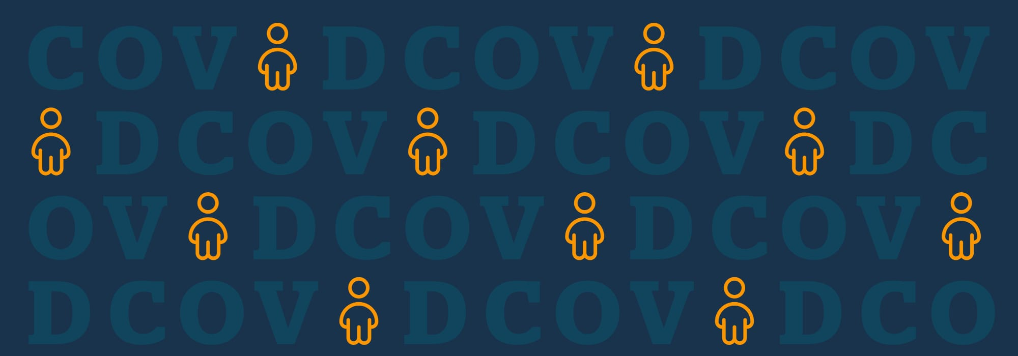 COVID illustration with icons of people