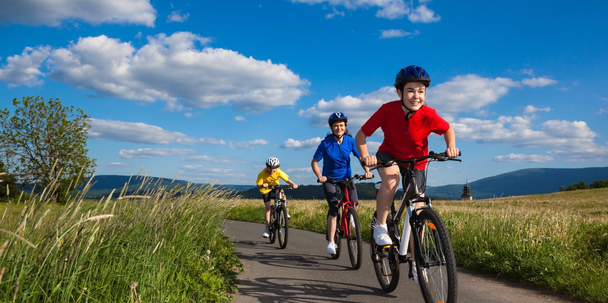 Children riding