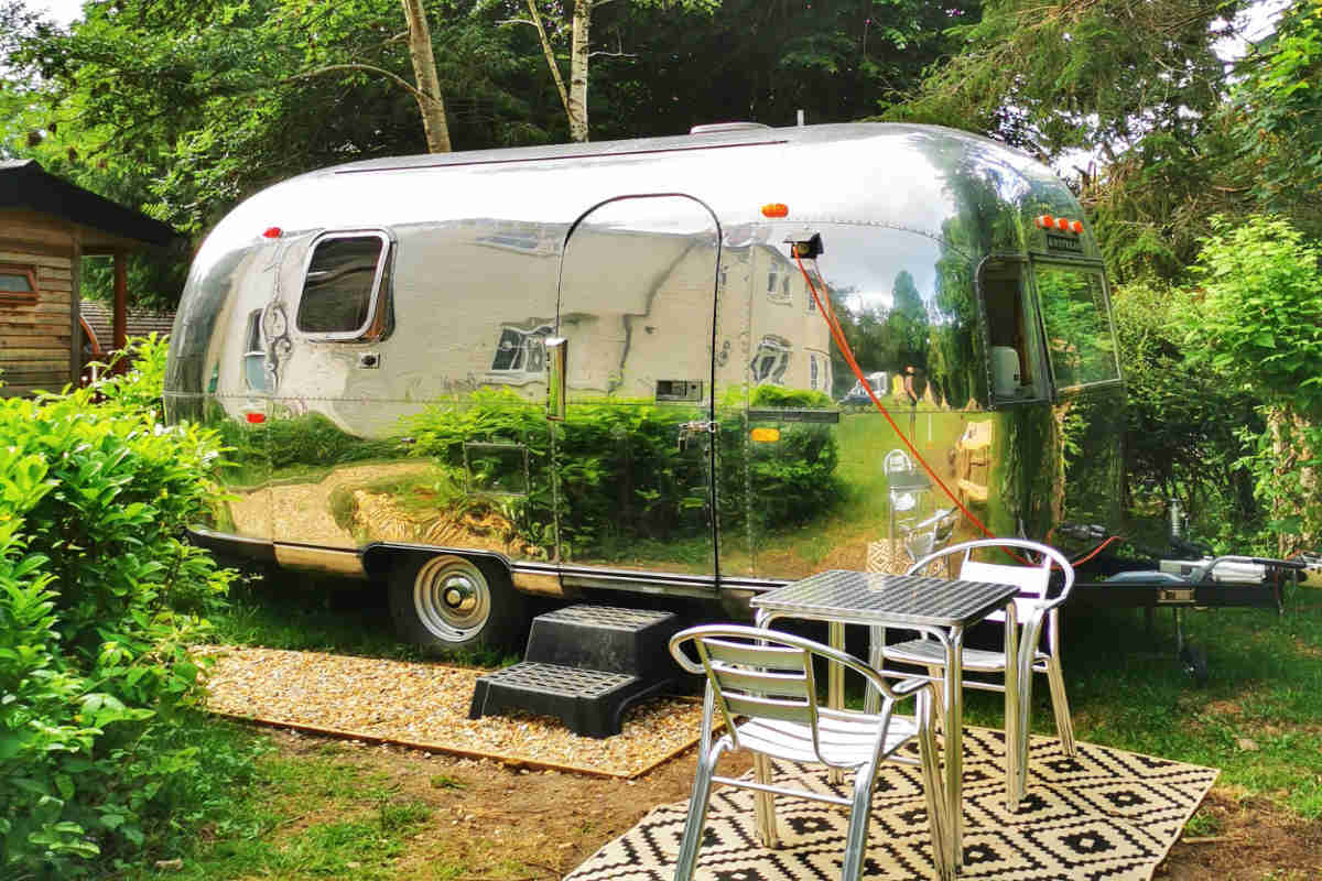 The Airstream Trailer for Glamping in the New Forest