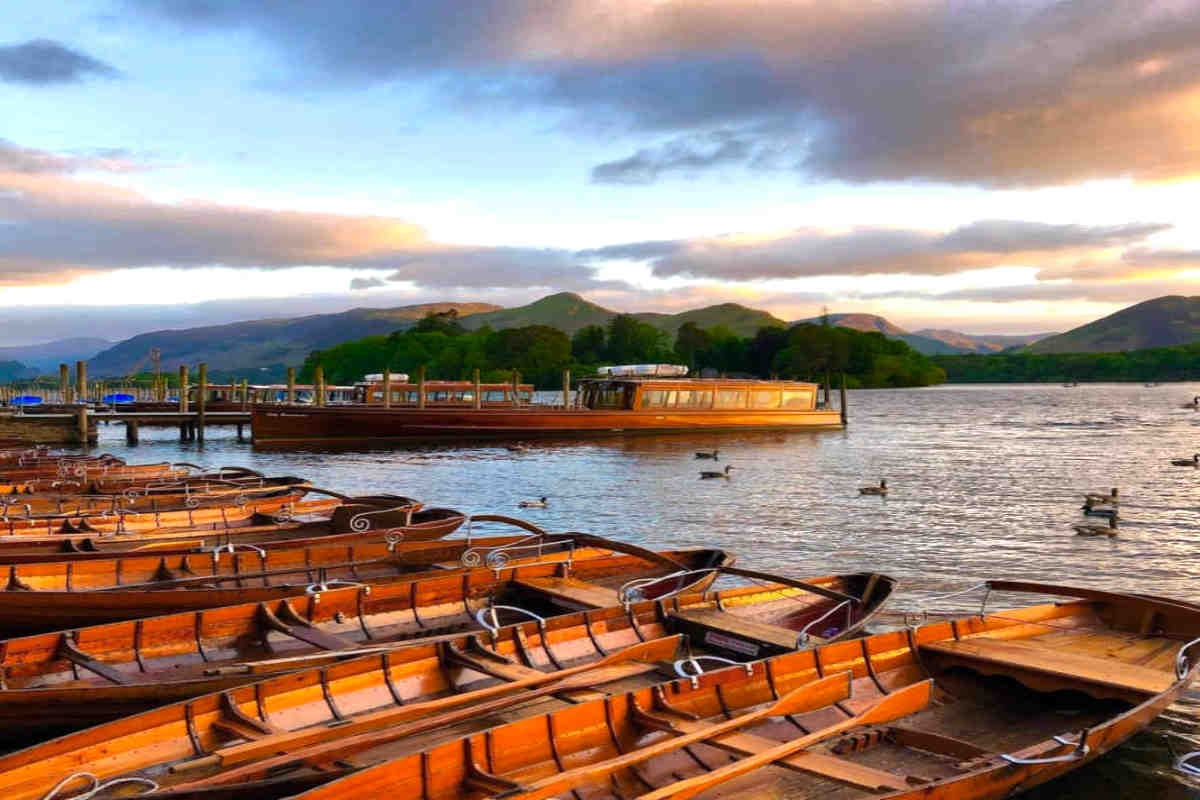 Boats on Keswick harbour