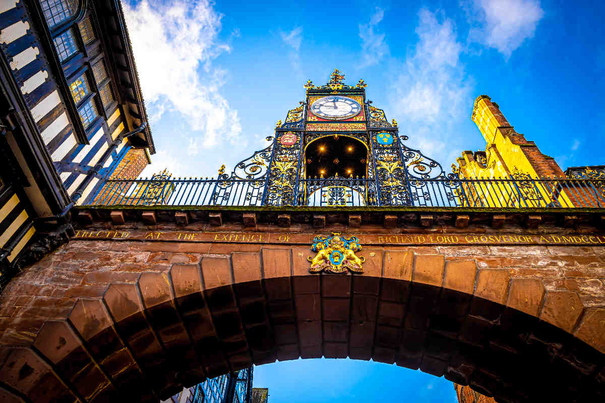 Eastgate clock of Chester, a city in northwest England,  known f