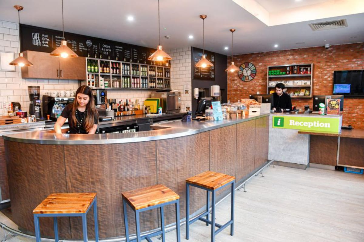 YHA London St Pancras café interior