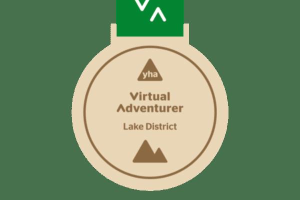 YHA Virtual Adventurer Lake District medal