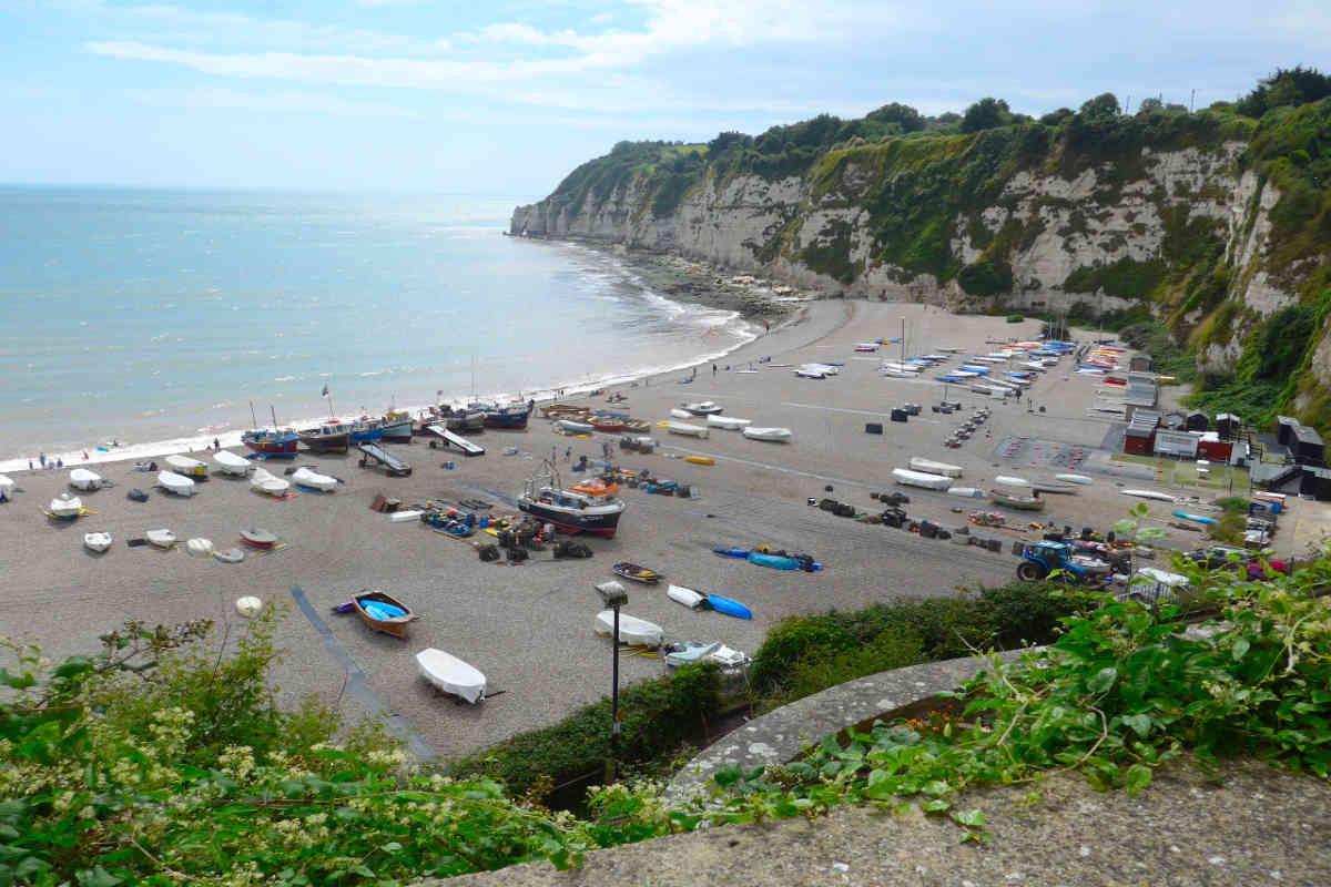 Beer beach in Devon