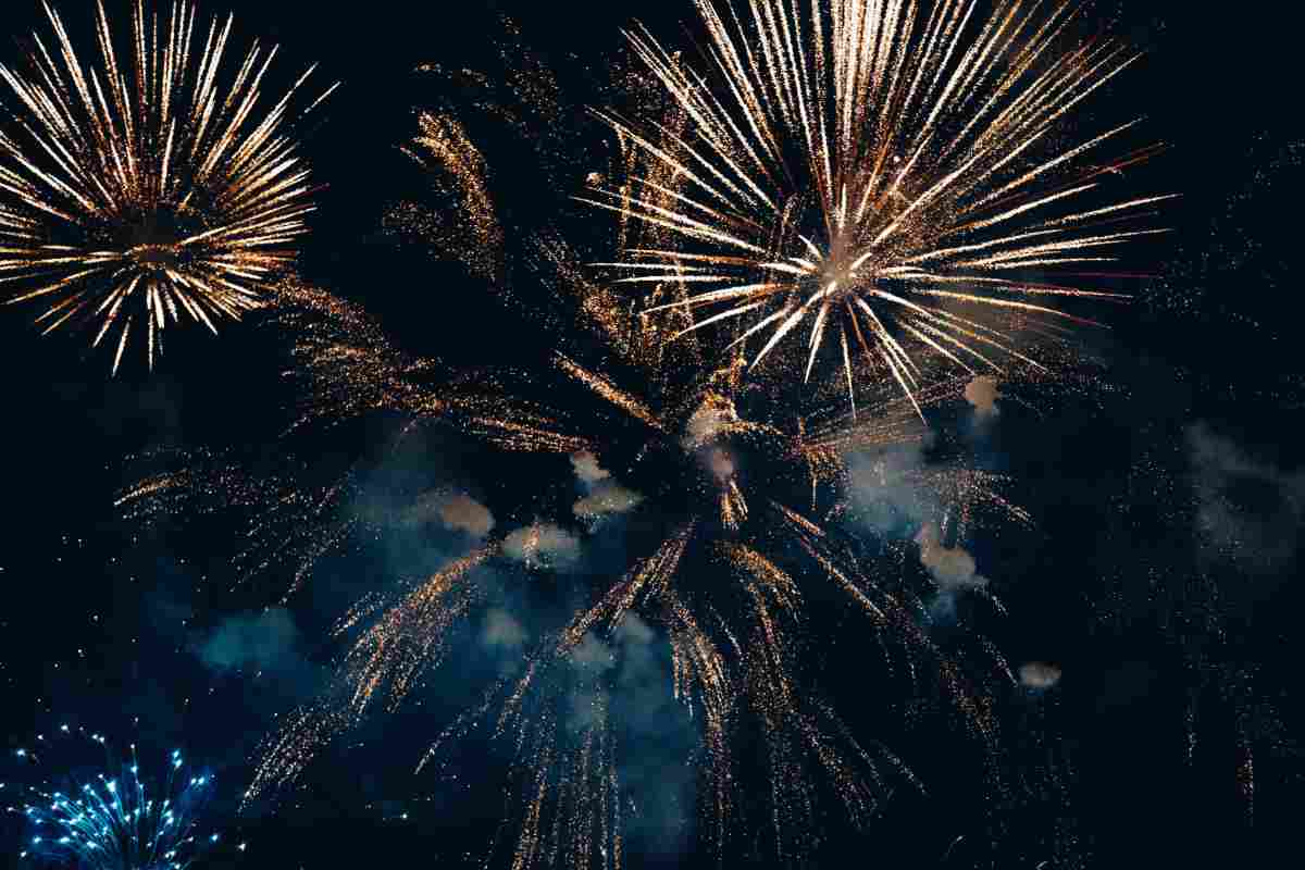 Amazing colourful fireworks