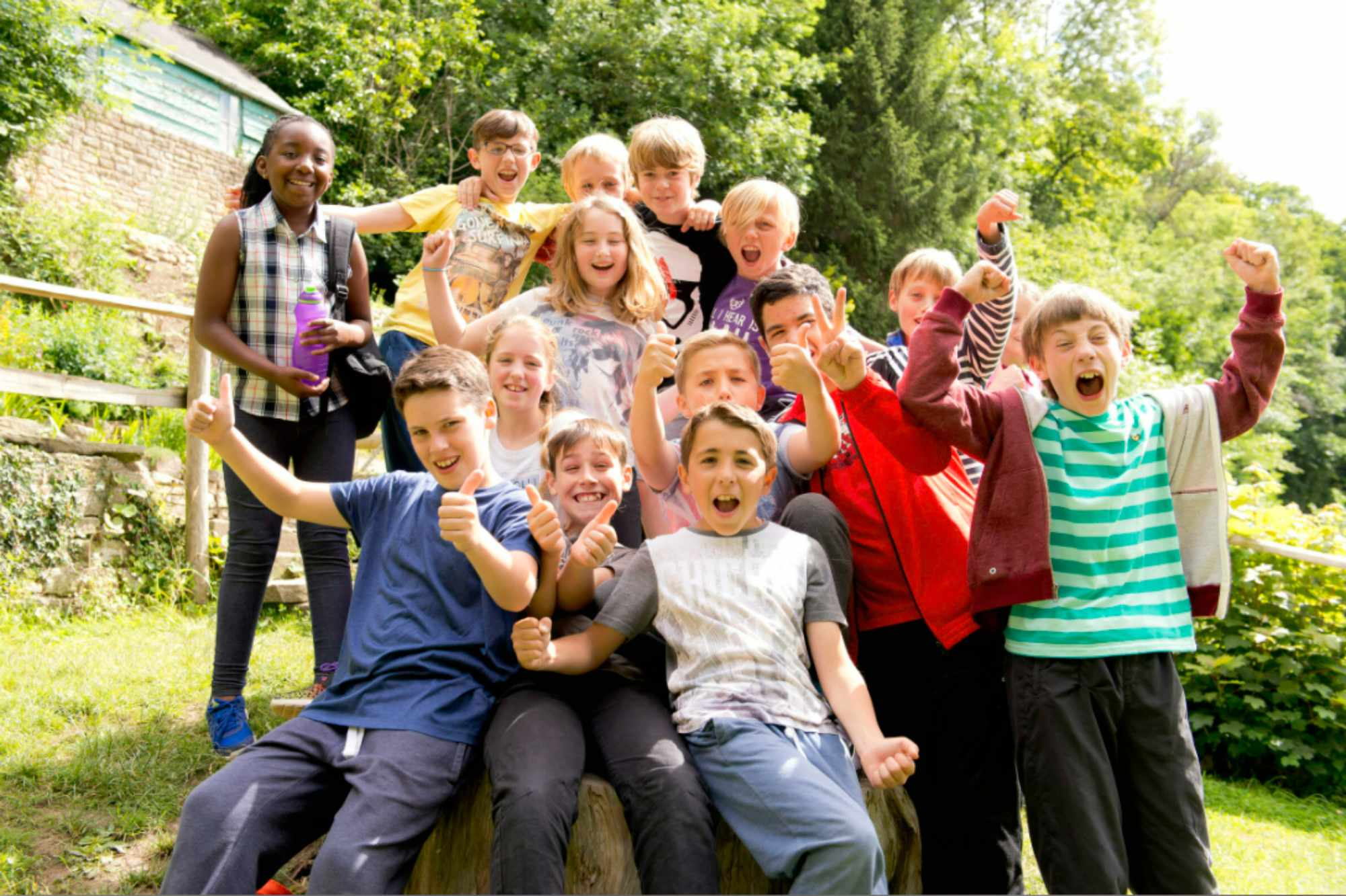 A group of children on a school trip