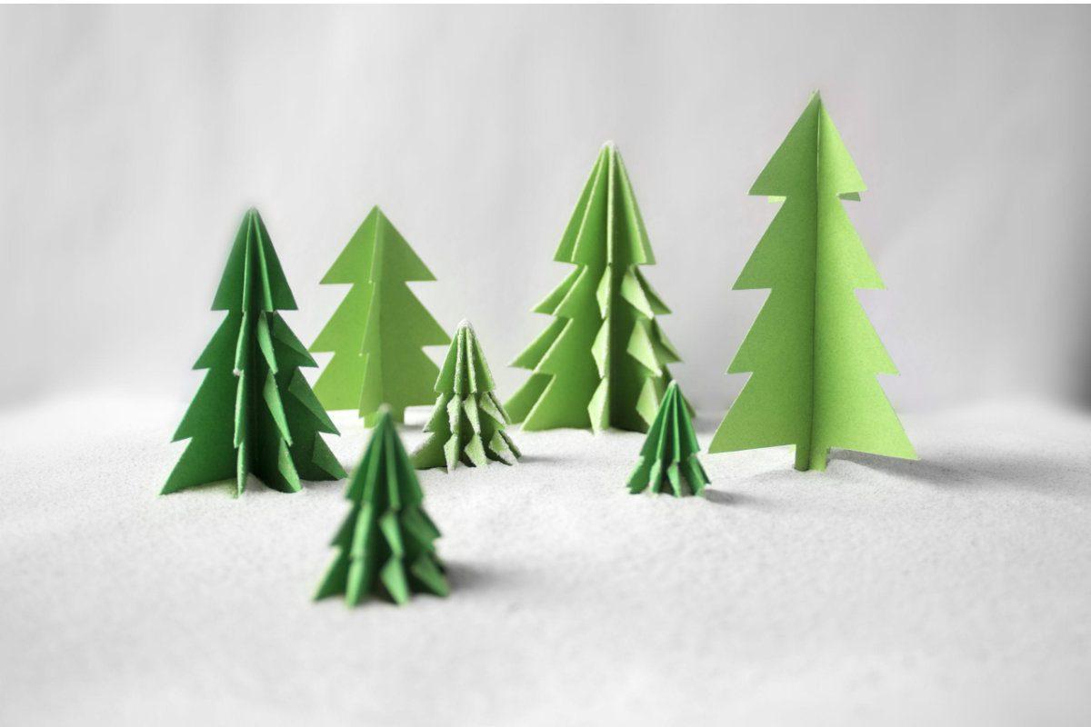 Paper tree decoration